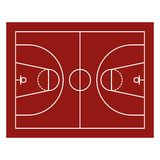 Champ de basket-ball Photos stock