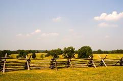 Champ de bataille américain de guerre civile photographie stock libre de droits