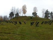 champ de bataille au Belarus après la deuxième guerre mondiale Image libre de droits