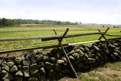 Champ de bataille de Gettysburg images stock