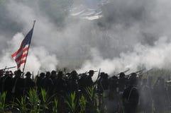 Champ de bataille de guerre civile photo stock