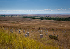 Champ de bataille de Little Bighorn photo stock