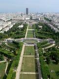 Champ DE brengt Parijs in de war stock foto's