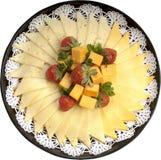 Champ de cablage à couches multiples assorti de fromage Photos stock