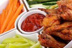 Champ de cablage à couches multiples d'ailes de poulet photographie stock