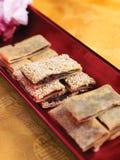 Champ de cablage à couches multiples de dessert Photographie stock