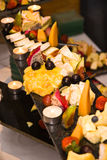 Champ de cablage à couches multiples de fromage Photos stock