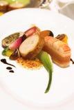 Champ de cablage à couches multiples de langoustine, de saumons et de Pickerel Images stock