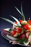 Champ de cablage à couches multiples de nourriture de réception photographie stock libre de droits