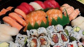 Champ de cablage à couches multiples de sushi Image stock
