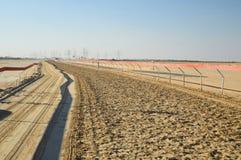Champ de courses pour la course de chameau à Dubaï photo libre de droits