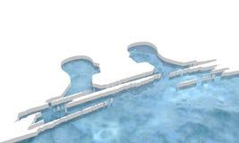 Champ de glace d'océan arctique Image libre de droits