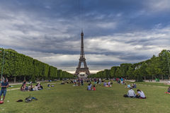 Champ de Mars à Paris, France Photo libre de droits