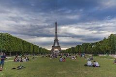Champ de Mars à Paris, France Photo libre de droits