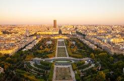 Champ de Mars comme vu de Tour Eiffel Image libre de droits