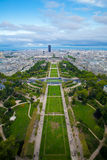 The Champ de Mars from Effeil tower Stock Photos