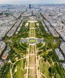 Champ de Mars em Paris foto de stock