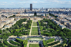 Champ de Mars, Paris - France Foto de Stock Royalty Free