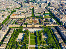 Champ de Mars, Paris, France Photo stock