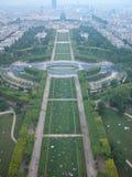 Champ de Mars, Paris, 2005. Full view of the Champ de Mars, Paris, France, 2005 Royalty Free Stock Photo