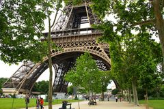 Champ de Mars in Paris. Royalty Free Stock Photography