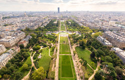The Champ de Mars in Paris Stock Image