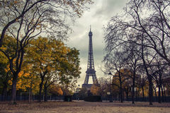 Champ de Mars park in autumn Stock Image