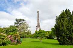 Champ de Mars Park with Eiffel Tower Royalty Free Stock Photos