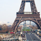 Pont d Iena and Eiffel Tower in Paris Stock Photo