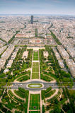 Champ-de-Mars view from Eifell tower Royalty Free Stock Photography
