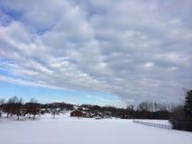Champ de neige Images stock
