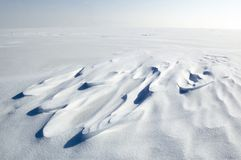 Champ de neige sans fin photos stock