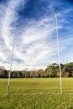 Champ de rugby Photographie stock libre de droits