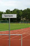 Champ de sports Photo stock