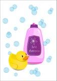 Champô do bebê Foto de Stock