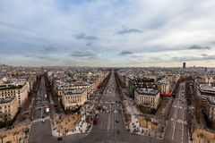 Champ Elysee Ave in Paris Royalty Free Stock Photo