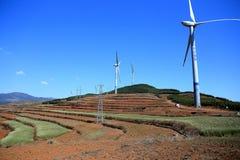 Champ et paysage rouges dans Yunnan, porcelaine photos stock