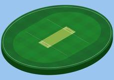 Champ isométrique pour le cricket, image d'isolement Photographie stock