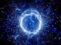 Champ rougeoyant bleu de haute énergie de forme de tore illustration de vecteur