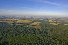 Champ rural en France - vue aérienne photo libre de droits