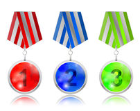 123 champ sphere medallion. Colorful 123 champ sphere medallion Royalty Free Stock Photography
