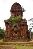 Champa architecture. Tower at the champa architecture complex My Son in Vietnam Stock Photos