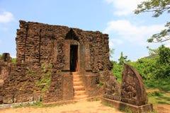 Champa architecture in My Son, Vietnam. Unesco heritage Stock Image