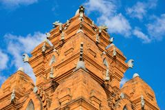 Champa temple top building - Hidu Tower in Asia.  Stock Image