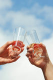 Champage glasses Royalty Free Stock Photography