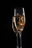 Champage glasses on black background Royalty Free Stock Photo