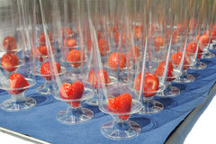 champageexponeringsglas royaltyfri foto