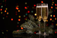 CHAMPAGNE νέο έτος Χριστουγέννων Στοκ φωτογραφίες με δικαίωμα ελεύθερης χρήσης