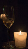CHAMPAGNE στο φως κεριών Στοκ Εικόνα