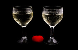 Champagne. On black background. photo studio Royalty Free Stock Images